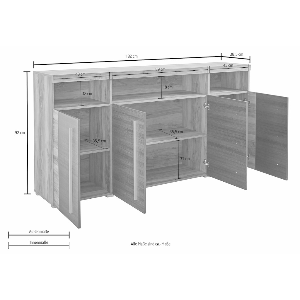 Sideboard »Roger«, Breite 182 cm