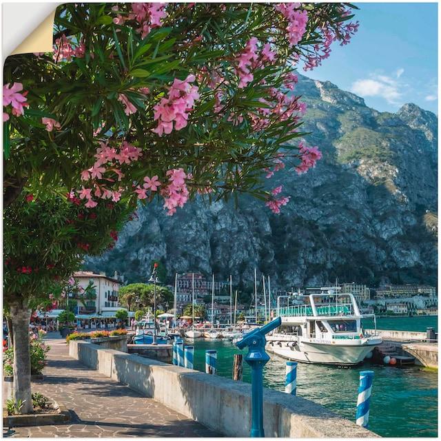 Artland Wandbild »Gardasee Hafen Limone sul Garda«