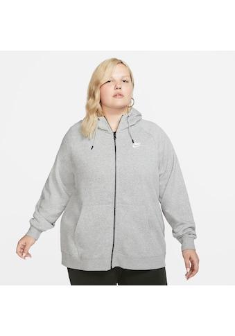 Nike Sportswear Kapuzensweatjacke »W NSW ESSNTL HOODY FZ FLC PLUS SIZE« kaufen
