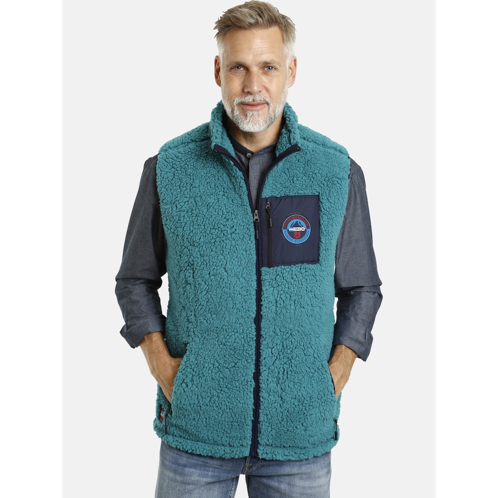 Jan Vanderstorm Fleeceweste »CANUTE«, aus weichem Sherpa Fleece