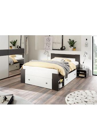 Bett »Linz«, mit ausziebaren Nachttischen und Schubkästen kaufen