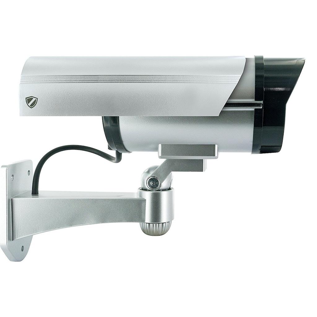 Schwaiger Kamera-Attrappe zur Wandmontage »Red Secure«