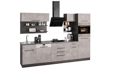 HELD MÖBEL Küchenzeile »Tulsa«, ohne E-Geräte, Breite 290 cm, schwarze Metallgriffe,... kaufen