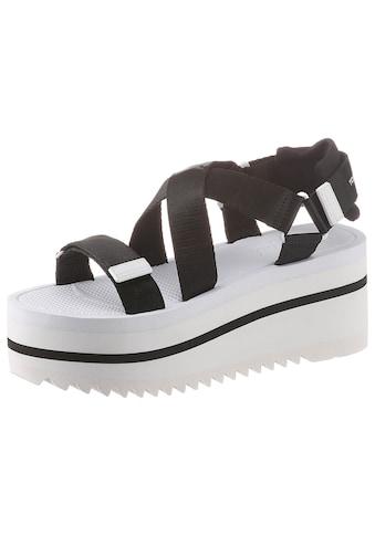 TOMMY JEANS Sandalette »POP COLOR FLATFORM SANDAL«, mit Klettverschlüssen kaufen