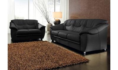 sit&more Polstergarnitur, NaturLEDER® (2-tlg.), bestehend aus je einem 2- und 3-Sitzer, inklusive Federkern kaufen