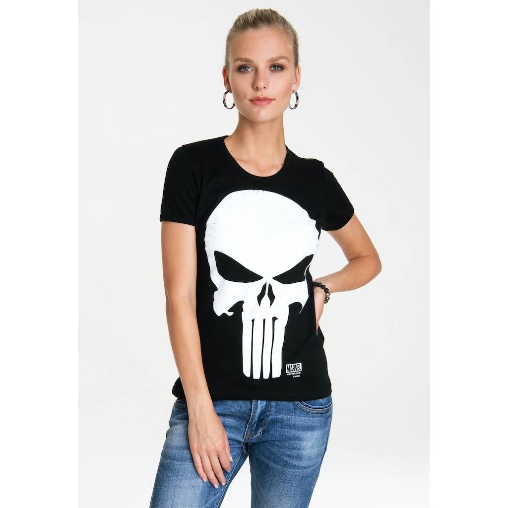 LOGOSHIRT T-Shirt »Punisher«, mit lizenziertem Originaldesign
