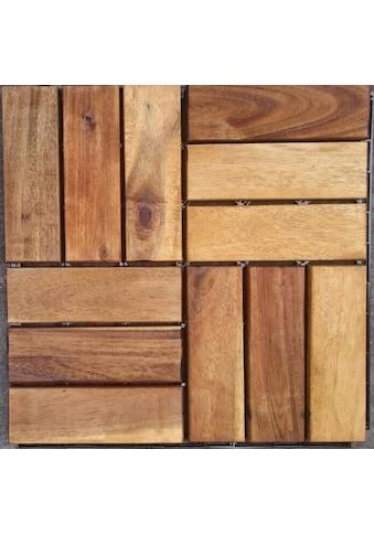 MERXX Holz - Fliesen »Akazie«, mit Klick - Verbindung, Fläche: 0,9 m²/Paket, braun kaufen