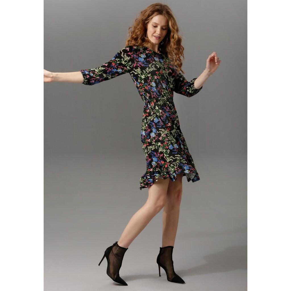 Aniston CASUAL Jerseykleid, mit 3/4-langen Armen
