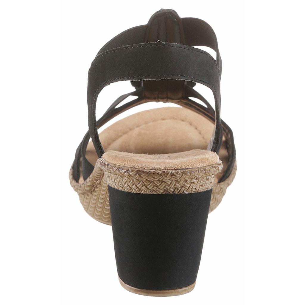 Rieker Sandalette, mit Strass-Steinchen verziert