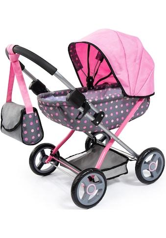 Bayer Puppenwagen »Cosy, grau/rosa«, mit Wickeltasche kaufen