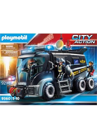 Playmobil® Konstruktions-Spielset »SEK-Truck mit Licht und Sound (9360), City Action«, Made in Germany kaufen