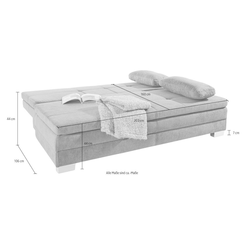 Jockenhöfer Gruppe Schlafsofa, inklusive Bettkasten und loser Kissen,mit Kaltschaumtopper