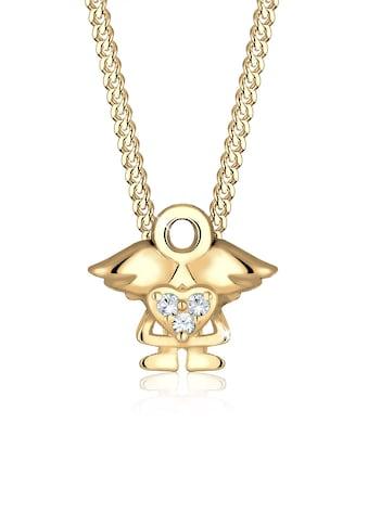 Elli Kette mit Anhänger »Kinder mit Engel Kristalle 925 Silber« kaufen