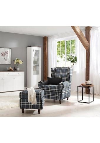 Home affaire Ohrensessel »Eric«, inklusive Hocker in Karostoff oder Luxusmicrofaser... kaufen