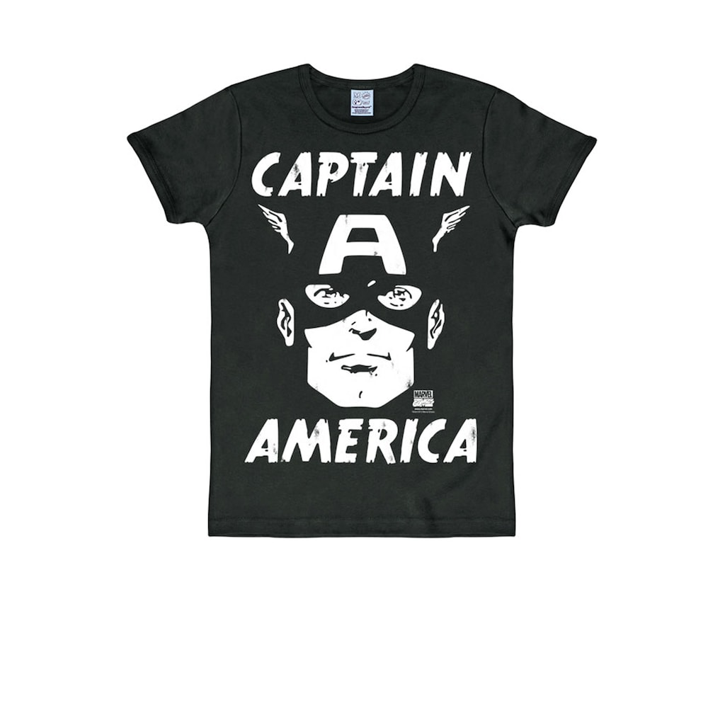 LOGOSHIRT T-Sirt mit Captain America-Print