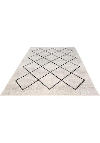 Andiamo Teppich »Bolonia«, rechteckig, 6 mm Höhe, Rauten Design, leicht meliert,... kaufen
