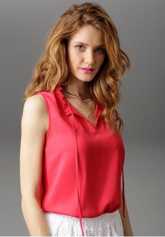 Aniston CASUAL Blusentop, in uni oder bedruckt - du hast die Wahl kaufen