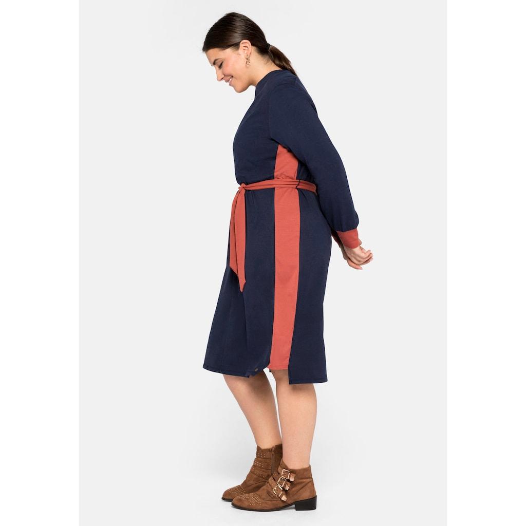 Sheego Jerseykleid, mit Kontraststreifen