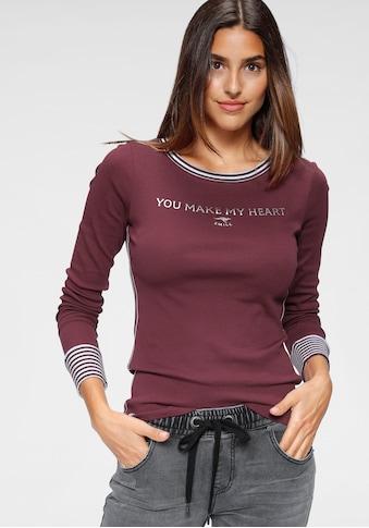 KangaROOS Langarmshirt, mit gekrempeltem Ärmelsaum kaufen