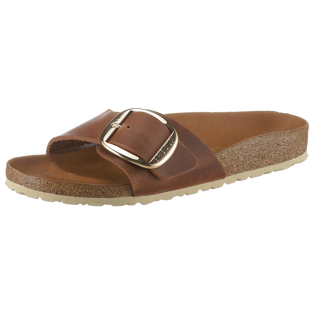 Birkenstock Pantolette »MADRID BIG BUCKLE«, mit ergonomisch geformtem Fußbett, in schmaler Schuhweite