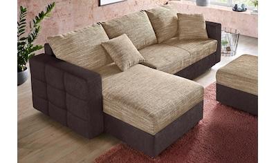 sit&more Ecksofa, inklusive Bettfunktion und Bettkasten, ideal für kleinere Räume kaufen