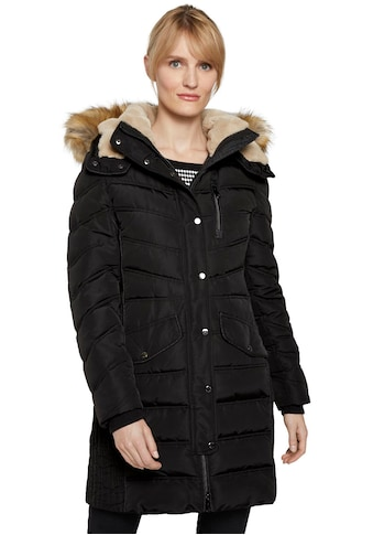 TOM TAILOR Wintermantel, mit abnehmbarer Kapuze und Kunstfellbesatz kaufen