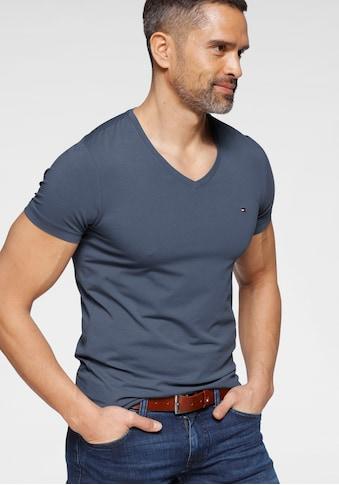 TOMMY HILFIGER T-Shirt »STRETCH SLIM FIT VNECK TEE« kaufen