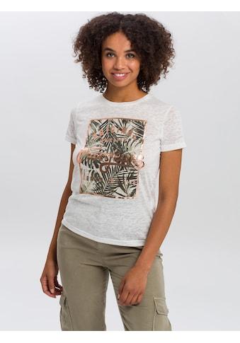 Cross Jeans® T-Shirt »55738«, Legeres Shirt mit Front-Print kaufen