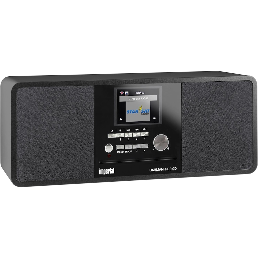 IMPERIAL by TELESTAR CD-Player »DABMAN i200 CD«, (WLAN-Bluetooth-CD Digitalradio (DAB+)-FM-Tuner-Internetradio ), Spotify Connect