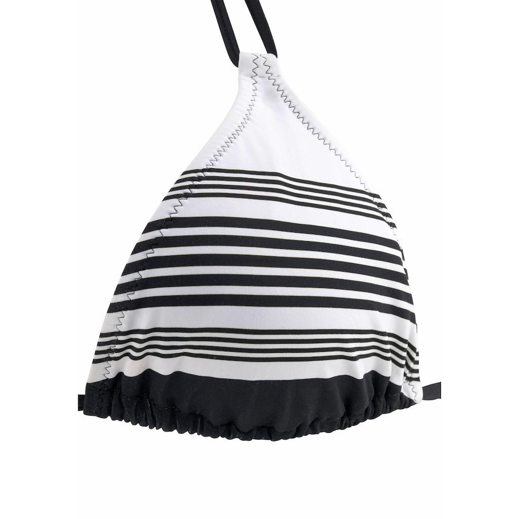 JETTE Triangel-Bikini, mit modernem Streifendesign