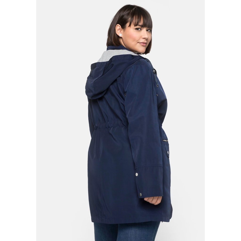 Sheego Langjacke, aus Techno-Twill