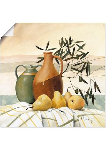Artland Wandbild »Der Geschmack des Südens«, Vasen & Töpfe, (1 St.), in vielen Größen... kaufen