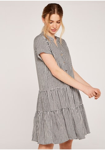 Apricot Karokleid »Mini Gingham Shirt Tiered Dress«, mit Knopfleiste kaufen