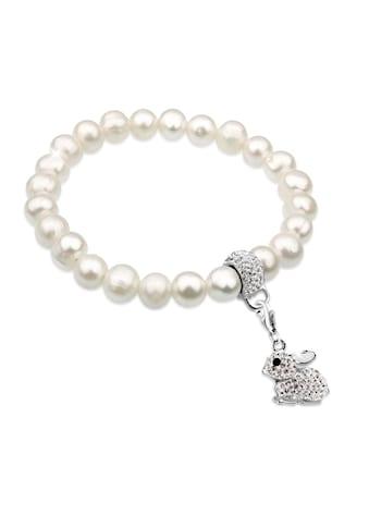 Nenalina Perlenarmband »Hase Perlen Kristalle Ostern 925 Silber« kaufen