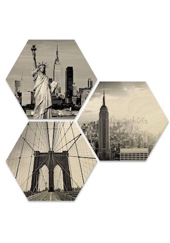 Wall-Art Mehrteilige Bilder »Impression New York Collage«, (Set, 3 St.) kaufen