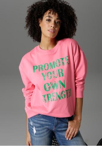 Aniston CASUAL Sweatshirt, mit Statement-Schriftzug - NEUE KOLLEKTION kaufen