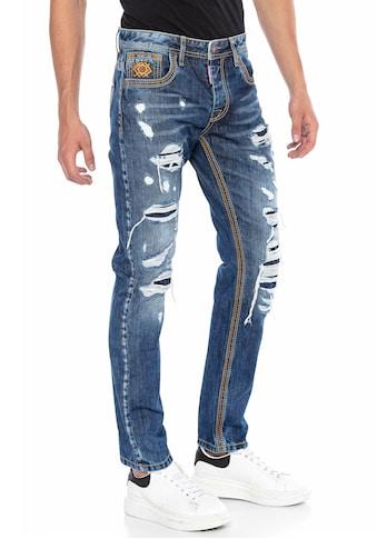 Cipo & Baxx Straight-Jeans, im ausgefallenen Design kaufen