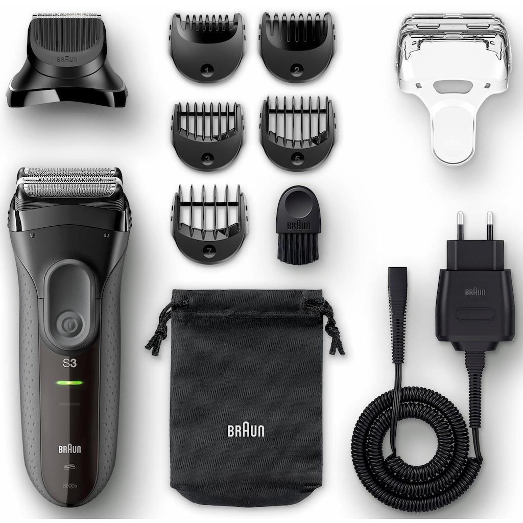 Braun Elektrorasierer »Series 3 3000BT«, 5 St. Aufsätze, Langhaartrimmer, Shave&Style 3-in-1