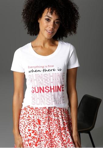 Aniston CASUAL T-Shirt, mit Statement-Schriftzug - NEUE KOLLEKTION kaufen