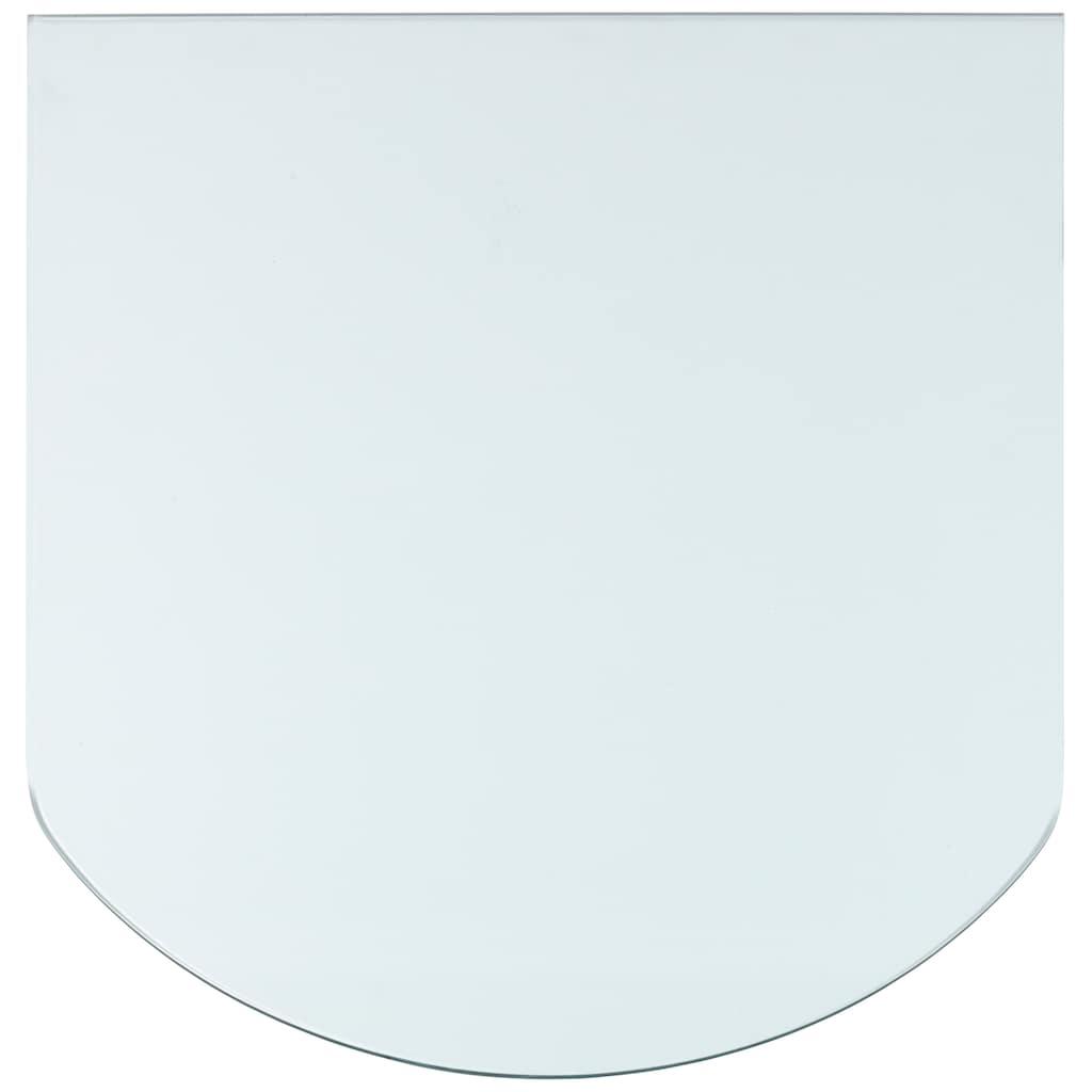Heathus Bodenschutzplatte, Halbrundbogen, BxT: 85 x 110 cm, transparent, für Kaminöfen