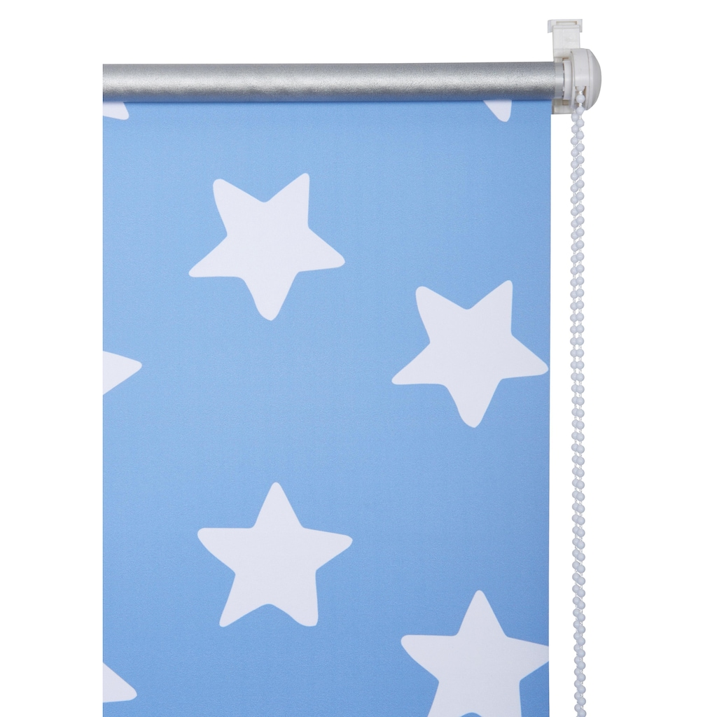 Lüttenhütt Seitenzugrollo »Stern«, verdunkelnd, energiesparend, ohne Bohren, freihängend, Kinderrollo
