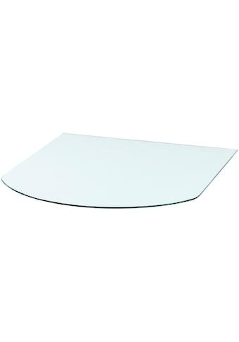 Heathus Bodenschutzplatte, Halbrundbogen, 85 x 110 cm, Milchglas, für Kaminöfen kaufen