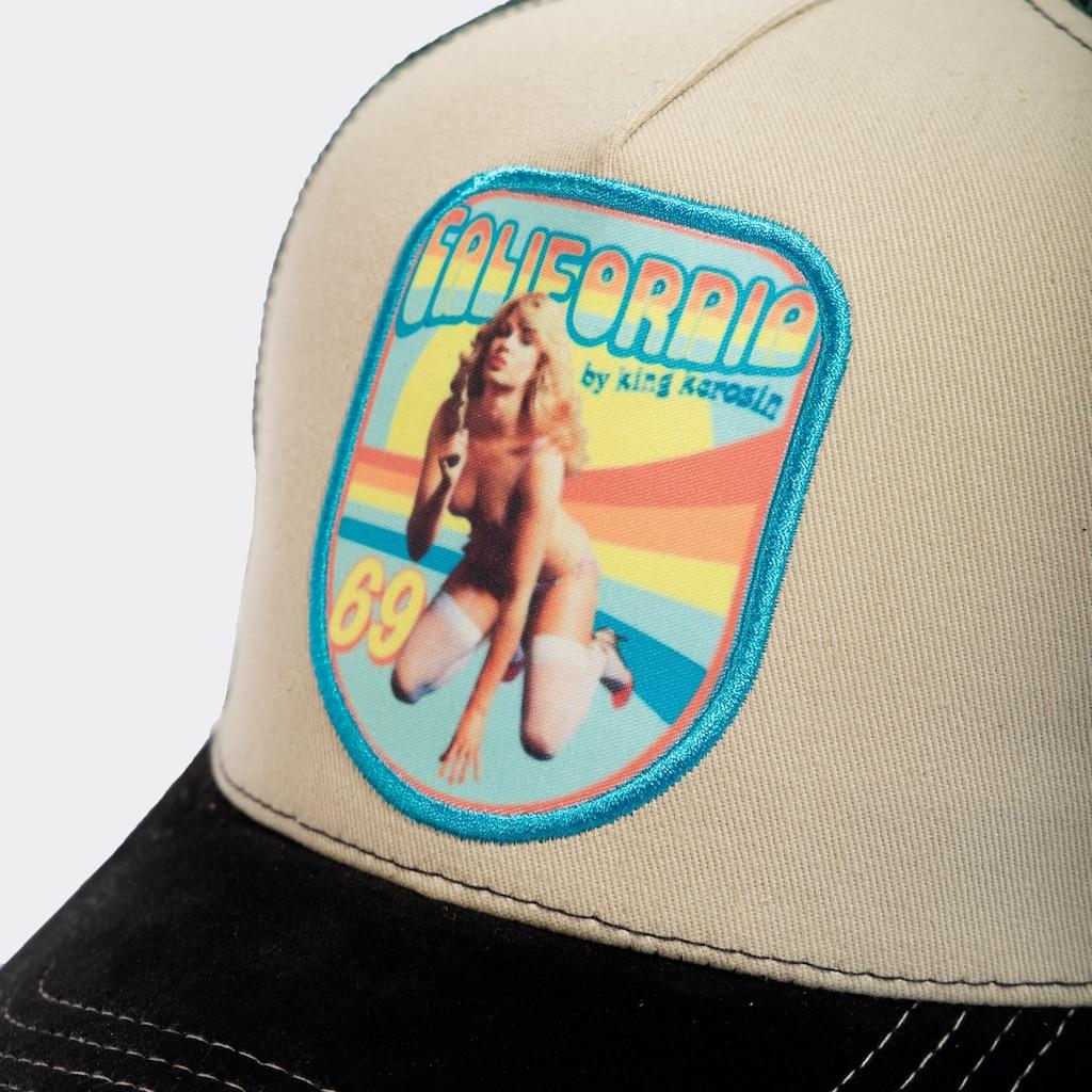 KingKerosin Trucker Cap »California«, mit sexy Frontpatch
