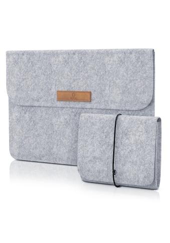 """Aplic 13,3"""" Notebooktasche inkl. Mini - Tasche und Zubehör - Fächern »Notebokhülle aus Naturfilz« kaufen"""