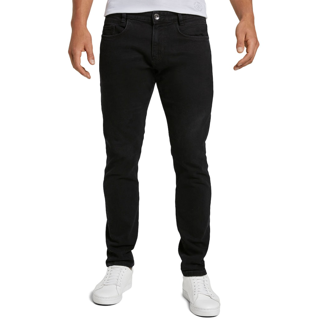 TOM TAILOR Slim-fit-Jeans »TROY«, unifarben