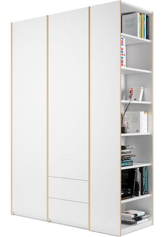 Müller SMALL LIVING Kleiderschrank »Modular Plus Variante 2«, inklusive 2 kleinen Schubladen im rechten Schrankteil, Anbauregal wahlweise links oder rechts montierbar kaufen