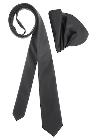 Bruno Banani Krawatte, (Set, 2 St., mit Einstecktuch), inklusive Einstecktuch kaufen