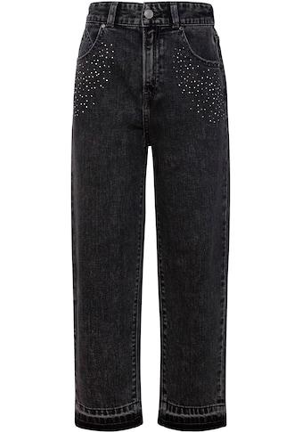 Pepe Jeans Weite Jeans »Paris«, mit Glitzersteinchen kaufen