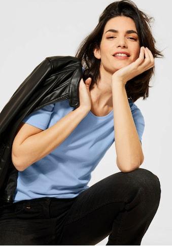 Cecil Rundhalsshirt »Lena«, Basic-Shirt mit Halbarm kaufen