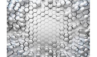 Komar Fototapete »Titanium«, bedruckt-3D-Optik-Stadt, ausgezeichnet lichtbeständig kaufen
